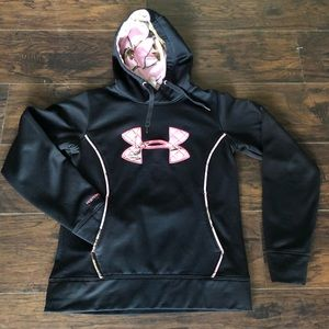 Under Armour black pink Mossy Oak accents small
